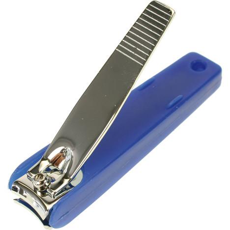 Nagelknipser 7cm mit Auffangbehälter blau
